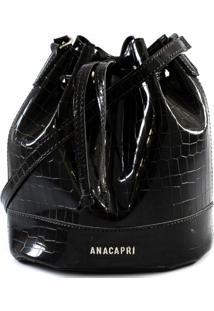 Bolsa Bucket Crossbody Croco Inverno Anacapri C500190004