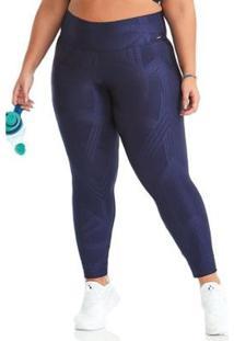 Calça Legging Plus Size Exclusive Cajubrasil Feminina - Feminino-Azul