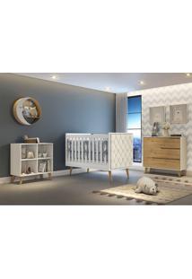 Dormitório Valentina Comoda 3 Gavetas Comoda Montessoriana Berço Lorena C/ Capitone Carolina Baby - Tricae