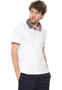 Camisa Polo Forum Reta Pespontos Branca