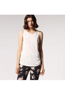 Camiseta Diesel T-Bowy Feminina - Feminino-Branco