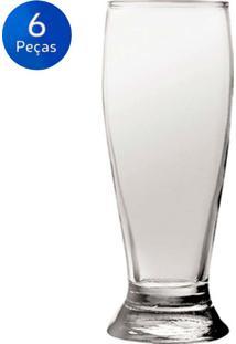 Conjunto De Copos Cerveja Munich 300Ml 6 Peças - Nadir - Transparente