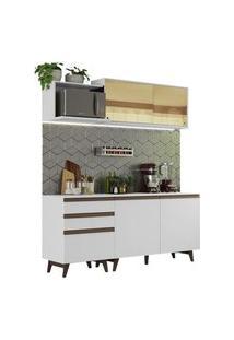 Cozinha Completa Madesa Reims 180001 Com Armário E Balcão Branco Cor:Branco