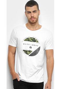 Camiseta Hang Loose Silk Psicamo Masculina - Masculino-Branco