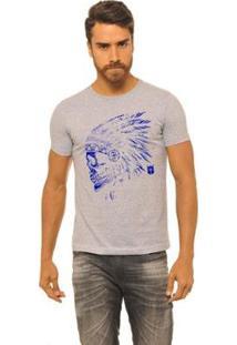 Camiseta Masculina Joss Native - Masculino-Cinza
