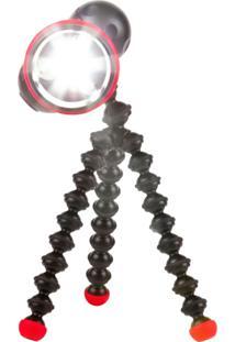 Luminária Joby Com Hastes Flexíveis E Pés Magnéticos Gorilla Torch Flare Preto/Vermelho