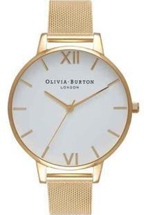 Relógio Olivia Burton Feminino Aço Dourado - Ob15Bd84