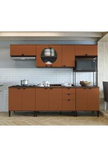 Cozinha Compacta Kohler 11 Pt 3 Gv Jacarandá E Terracota