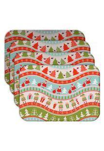 Jogo Americano Love Decor Happy Noel Kit Com 4 Peças