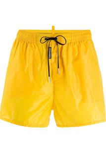 Dsquared2 Drawstring-Waist Swimming Trunks - Amarelo