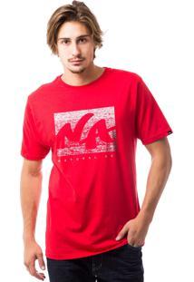 Camiseta Natural Art Branco/Vermelho