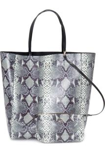 Bolsa Feminina Shopping Snake - Animal Print