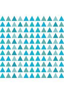 Adesivo De Parede Triangulos Tons De Azul 121Un