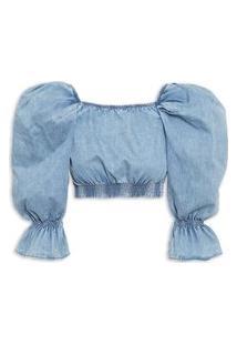 Blusa Feminina Jeans - Azul