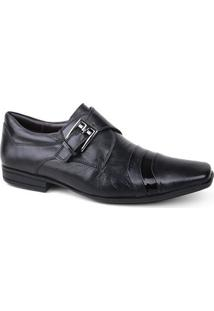 Sapato Calvest 2260B846 Manchester Social Masculino Preto Verniz