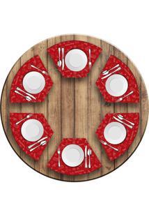 Jogo Americano Love Decor Para Mesa Redonda Wevans Elementos Natalinos Vermelho Kit Com 6 Pã§S - Multicolorido - Dafiti