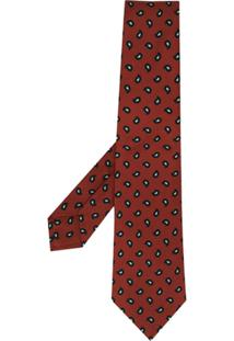 Kiton Gravata Com Estampa Paisley - Vermelho