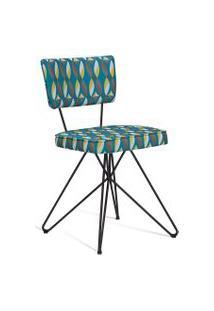 Cadeira Butterfly Retrô Preto E Verde Daf