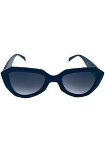 Óculos De Sol Khatto Premium Poderosa Feminino - Feminino-Azul
