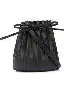 Mansur Gavriel Bolsa Bucket Mini Com Pregas - Preto