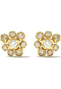 Annoushka Par De Brincos Hidden Reef Em Ouro 18K Com Diamante - 18Ct Yellow Gold