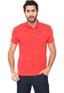 Camisa Polo Malwee Slim Bolso Vermelha