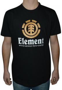 Camiseta Element Vertical - Masculino-Preto