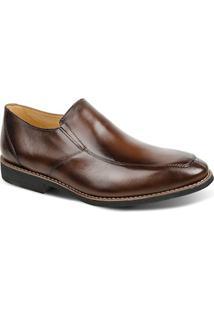 Sapato Masculino Linha Premium Side Gore Sandro Moscoloni 16129 Marrom Escuro