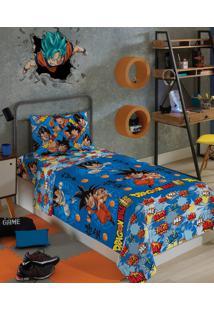 Jogo De Lençol Infantil 2 Peças Dragon Ball Lepper