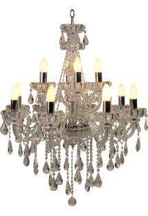 Lustre De Cristal Charlottenhof Para 12 Lâmpadas Bivolt