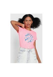 Camiseta Hurley Crush Floral Rosa