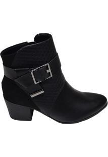 Ankle Boot Feminina Ramarim Preta