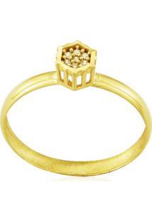 Anel Ouro 18K Chuveiro Vj6869
