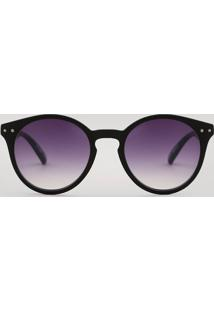 dd2073b8f ... Óculos De Sol Redondo Feminino Oneself Preto - Único