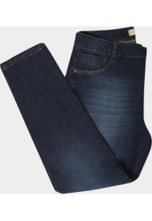 Calça Jeans Biotipo Cigarrete Cintura Alta Plus Size Feminina - Feminino