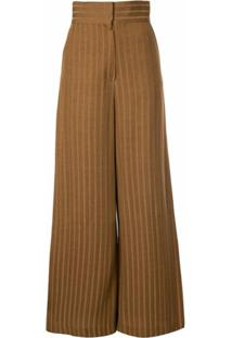 Muller Of Yoshiokubo Wide Leg Trousers - Marrom