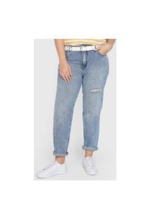 Calça Jeans Cantão Reta Viver Bem Sasha Azul