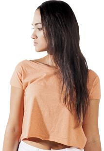 Blusa Cropped Wanted Custom Comfort Laranja