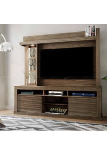 Estante Home Theater Para Tv Até 50 Polegadas 2 Portas Com Espelho, Vidro E Led Flex Color Maracá Malbec/Malbec/Riviera - Colibri