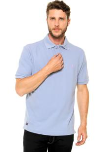 Camisa Polo Mr Kitsch Manga Curta Basic Azul