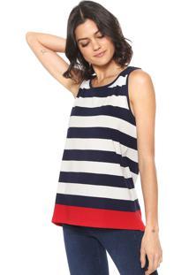 ... Regata Calvin Klein Jeans Listrada Branca Azul-Marinho 6694cafd27