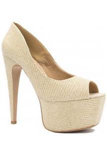 Sapato Zariff Shoes Peep Toe Salto Alto