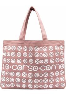10 Corso Como Bolsa Tote Com Estampa De Logo - Rosa