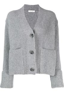 Falke Cable Knit Cardigan - Cinza