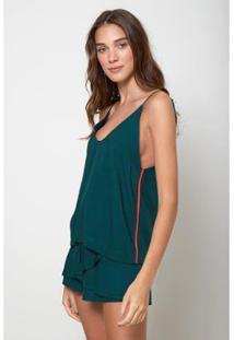 Blusa Oh,Boy! Detalhe Decote Feminina - Feminino-Verde