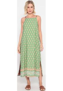 Vestido Mídi Dupla Face - Verde & Marrom - La Conchala Concha