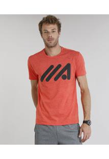 Camiseta Masculina Esportiva Ace Manga Curta Gola Careca Laranja