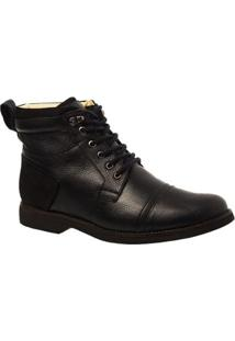 Coturno Masculino Gel Anatômico Em Couro Floater Doctor Shoes - Masculino-Preto