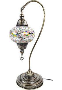 Luminária Turca De Mosaico Colorido