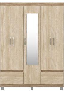 Guarda-Roupa 5 Portas Golden - Demóbile Nogal Com Vanilla Touch